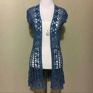 BCBG Elegant Crocheted sweater